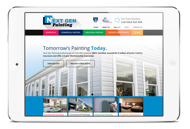 New Online Presence for Next Gen Painting